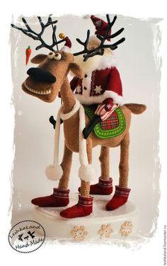 🌸🌸🌸Michele Pires🌸🌸🌸's media statistics and analytics Christmas Moose, Felt Christmas Ornaments, Christmas Sewing, Christmas Diy, Handmade Christmas Decorations, Felt Decorations, Christmas Projects, Christmas Crafts, Reindeer Craft