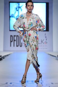 Pakistani Model Fayeza Ansari at PFDC Sunsilk Fashion Week 2012