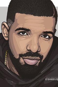 Drake by shkelqimart on DeviantArt Dope Cartoon Art, Dope Cartoons, Cartoon Kunst, Arte Drake, Drake Art, Savage Wallpapers, Drake Wallpapers, Arte Do Hip Hop, Hip Hop Art