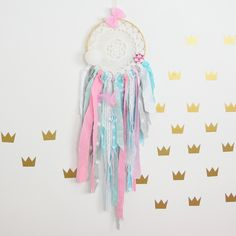 Dream catcher Kids Teepee Decoration Wall art dreamcatcher wall hanging mobile- Prima Ballerina by MamaPotrafi on Etsy