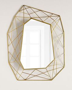 Shop Geometric Mirror with Brass at Horchow, where you'll find new lower shipping on hundreds of home furnishings and gifts. Elegant Home Decor, Luxury Home Decor, Elegant Homes, Decor Interior Design, Interior Decorating, Shabby, European Home Decor, Best Kitchen Designs, Home Decor Bedroom