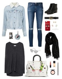 """""""💗"""" by lilsgrey ❤ liked on Polyvore featuring AG Adriano Goldschmied, Levi's, Coach, Massimo Dutti, Fendi, Gucci, Quay, Meira T, John Hardy and Ippolita"""