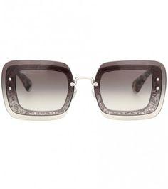 Verzierte Sonnenbrille Mit Glitter