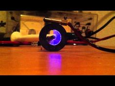 Cool trick with a plasma speaker and a round magnet - YouTube