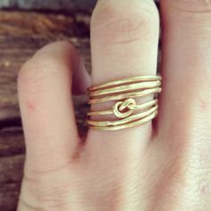 Infinity Knot Stacking Rings - $80