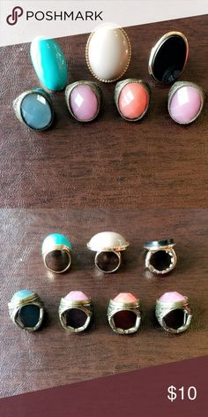 Rings bundle All rings are size 7. Four of them are stretchy fit bigger size. Please notice there are two rings same exact color. Would be perfect to share it with your SISTER OR BFF Jewelry Rings