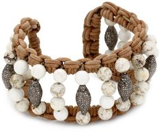 Jordan Alexander White Turquoise with 8 Diamond Tube Beads Cuff Bracelet Jordan Alexander http://www.amazon.com/dp/B0055QK4KK/ref=cm_sw_r_pi_dp_3CXgub1TE3P47