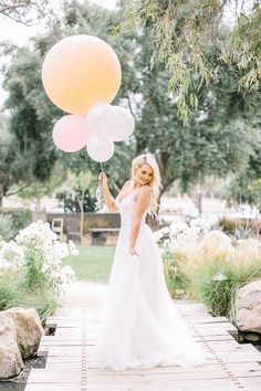 Wedding Balloons For A Rustic