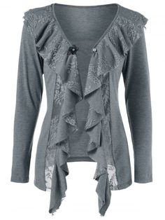 GET $50 NOW | Join RoseGal: Get YOUR $50 NOW!http://www.rosegal.com/sweaters/lace-insert-cardigan-with-brooch-1071936.html?seid=6822905rg1071936