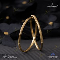 Kadli Bangles gms) - Fancy Jewellery for Women by Jewelegance Plain Gold Bangles, Gold Bangles Design, Gold Earrings Designs, Necklace Designs, Fancy Jewellery, Gold Jewelry Simple, Bangle Bracelets, Necklaces, Delicious Dishes