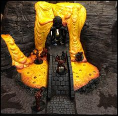 Lava Falls By Jack Tripp www.childrenofmercury.com #miniaturegaming