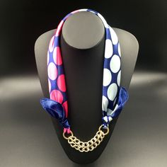 Pattern Printed Silk Shawl Acrylic Gold Plated Pendant Women Scarf Accessory Simple Style Elegant Women 2015 Autumn New Fashion Yarn Necklace, Fabric Necklace, Scarf Jewelry, Rope Jewelry, Crochet Scarf Easy, Diy Scarf, Crochet Scarves, Magic Shoes, Diy Jewelry Inspiration