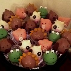 Animal fun cake pops