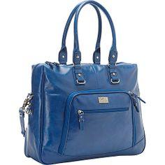 Leather laptop bag Cobalt Blue - $156.99