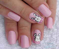 Bunny Nails  Check out Nail designs @ Christa Boveall awesome designs