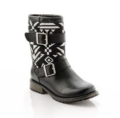 "Sasha-ShoeMint  Style Notes  from Nicole Chavez    ""I'm obsessed with this boot in both styles! Style the Aztec pair with a chunky sweater and jeans or slip on the brown pair and wear it with a short and flowy dress. Because of the slight heel, you can dress these up more than you'd think!"""
