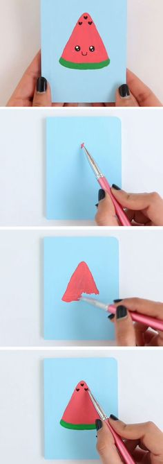 Watermelon Notebook | DIY Back to School Art Projects | DIY School Supplies for Teens Notebooks