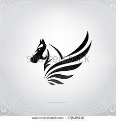 Vector silhouette of Pegasus