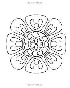 Adult Coloring, Coloring Books, Floral Embroidery Patterns, Simple Flowers, Floral Designs, Large Prints, Mandala, Doodles, Ornaments