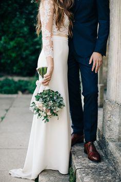 Photography: M & J Photography - http://www.stylemepretty.com/portfolio/m-and-j-photos Wedding Dress: Fleetwood Of London - http://www.stylemepretty.com/portfolio/fleetwood-of-london   Read More on SMP: http://www.stylemepretty.com/2015/11/17/fashionable-english-garden-wedding-at-barnsley-house/
