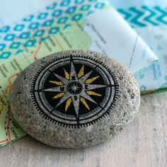Travel Stone Compass // gift for travelers // by BasedTrueStory
