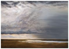 """Big #Norfolk Skies. """"Thunderhead over Saltmarsh"""" - a piece I've been working on over the past couple of weeks. #oilpainting on canvas"""