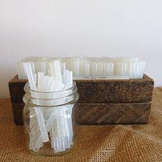 Glue sticks 50 bulk hot glue sticks destash craft by RaggedyRee, $5.00