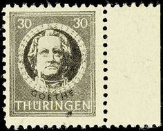 """German Russian Occupation 30 Pfg in very scarce colour black olive with Spargummierung, in perfect condition mint never hinged extremely fine copy, certificate with photograph Ströh BPP """". . . Perfect"""" - stamps in this color variety to class among the large SBZ-rarities!  Dealer Dr. Reinhard Fischer Auktionen  Auction Minimum Bid: 4000.00EUR"""