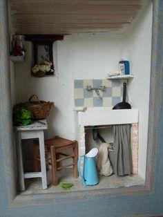 Quand nos  p'tites cuisines s'invitent en boîte....      Délire autour d'un thème..   Les cuisines à l'ancienne