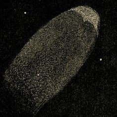 "Halley's Comet, observed October 29, 1835. Observers noted the streams of vapor coming out of the comet. Mona Evans, ""Halley's Comet"" http://www.bellaonline.com/articles/art44795.asp"