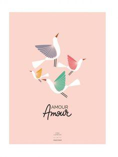 L'affiche Oiseaux Amour Amour - Zina Lahrichi x émoi émoi EMOI EMOI - Photo