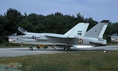 French Marine Nationale Crouze (Vought Crusader) of 12F-41 seen in 1971.