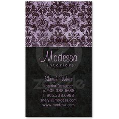 Ultra Chic Dusky Lilac Business Cards by BestCards