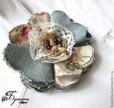 МК «Брошь из ткани» - Ярмарка Мастеров - ручная работа, handmade