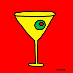 """""""Mad Men Martini, Red"""" Original Art by Todd Parr"""