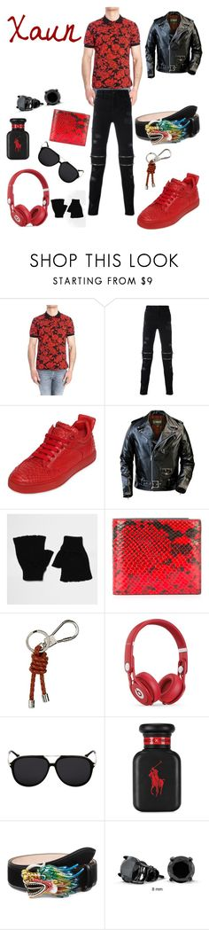 """Yi Shang's Son"" by keih95 ❤ liked on Polyvore featuring MSGM, County Of Milan, Royaums, Schott NYC, River Island, Maison Margiela, Burberry, Beats by Dr. Dre, Ralph Lauren and Gucci"