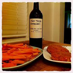 """Member timmybaks: """" knows me too well. The name of this wine is basically the story of my life. Also turkey burgers and sweet potato fries! Wine Dinner, Turkey Burgers, Wine Delivery, Sweet Potato, Fries, Life, Food, Turkey Patties, Essen"""