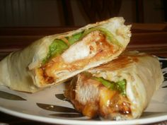 grilled bbq chicken wraps- i thought it was avacado but it is lettuce- i like avacado