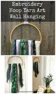 Embroidery Hoop Yarn