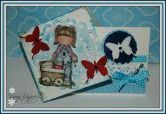 Tarjeta  Side Spring Card  Fotos y Scrap
