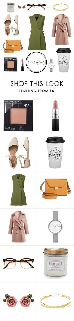 """""""simple day"""" by maggiec003 ❤ liked on Polyvore featuring Maybelline, MAC Cosmetics, Gap, Balmain, Victoria Beckham, Skagen, Sur La Table, Dolce&Gabbana, Lana Jewelry and Luna Skye"""