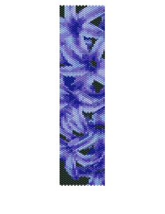 Peyote Bracelet Pattern  Hyacinth Buy 2 Patterns  by KFSDesigns