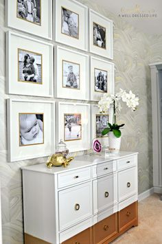 Ideas About Ikea Gallery Wall On Pinterest Using Gold Colored Card Stock Behind Photos And Under The Matting For A Little Extra Pop. colors of paint for bedrooms. corner window seat. kitchen ideas that work. great room furniture layout.