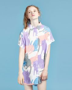 Lazy Oaf Cat Cluster Shirt - 15th Birthday Collection