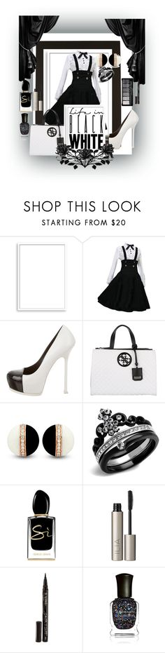 """""""Untitled #2827"""" by princhelle-mack ❤ liked on Polyvore featuring Bomedo, Yves Saint Laurent, GUESS, Giorgio Armani, Ilia, Smith & Cult and Deborah Lippmann"""