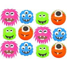 12 Assorted Monster Alien Foam Children's Face Masks