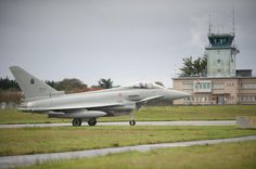 Italian Air Force Eurofighter Typhoon II during joint Italian, French & British training at French Aeronavale base at Landivisiau, 6-9 November 2013.