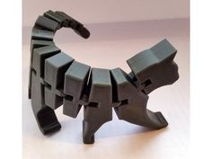 Flexi Cat inspired by Flexi Rex 20190420 initial release 20190510 chamfer ears Impression 3d, 3d Printing Diy, 3d Printed Objects, 3d Printer Designs, Tiki Art, Self Watering Planter, Love Tips, 3d Prints, Sculptures