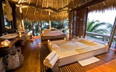 North Island, Seychelles Okahirongo Elephant Lodge, Namibia This big-enough-for-two bath was designed for use any time of day—an early morning soak, an afternoon respite, or candlelit evening dip.