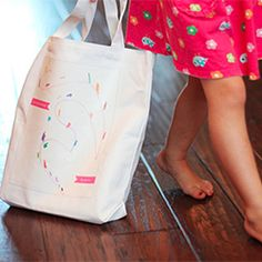 Turn your child's drawing into a tote bag.